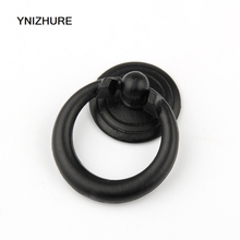 YNIZHURE 34*25mm 20PCS Circle Color Gold Silver Black Ring Zinc Alloy Door Handles Pulls Cabinet Antique Furniture Hardware(China)
