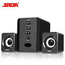 SADA Wired 2.1 combination speaker suitable desktop Laptop USB/AUX brand PC computer speakers notebook computer speaker