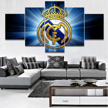 5 Piece HD Print Large Real Madrid La Liga Modern Decorative Paintings on Canvas Wall Art for Home Decorations Wall Decor Frame