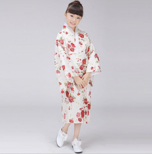 New White Japanese Baby Girl Kimono Tradition Kid Yukata Kid Girl Stage Performance Dress Child Cosplay Costume Flower BG004(China)