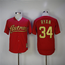 MLB Men's Houston Astros Nolan Ryan Jeff Bagwell Craig Biggio Jersey(China)