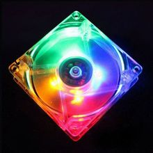PC Computer Fan Case Cooling Fan Unit Fan With LED Lights Chassis Fan Size 80 * 80 * 25 2 Color
