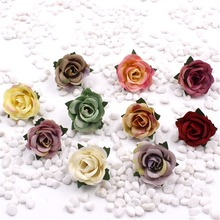 new 5pcs Free shipping 3cm Simulation rose corsage hairpin DIY shoes flower artificial flowers silk flower decoration(China)