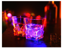 Magical LED Colorful Flashing Square Cup,Whiskey Cup, wedding, bar, celebration props glowing toys,Creative Gifts