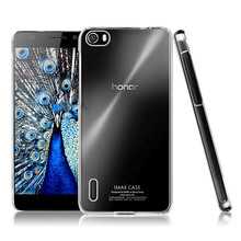 for Huawei Honor 6 Durable Imak Crystal Case Shell Transparent Clear Plastic Cover, Cell Phone Cases with Retail Package
