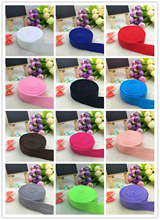 "3/4"" 20mm 5yards Multirole Fold Over Elastic Spandex Satin Band Ties Hair Accessories Lace Trim Sewing Notion"