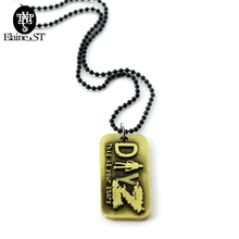 DayZ Nacklace Men Colar Hip Hop Necklace Black Bead Chain jewelry Male Dog Tag Military Army Collier fashion jewelry for friend(China)