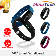 Blood Pressure Smart Wristband V07 Pedometer Bracelet Heart Rate Monitor Smartband Bluetooth Fitness Android IOS Phone - Original Market store