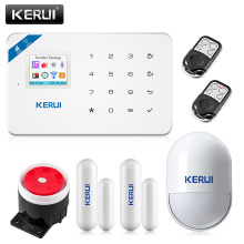2017 Kerui W18 Wireless Wifi GSM IOS/Android APP Control LCD GSM SMS Burglar Alarm System For Home Security