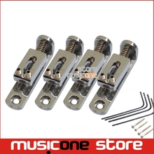 4 String Tooyful Solo Single Guitar Bridge with Wrench Screw for 4 String Guitar Cigar Chrome