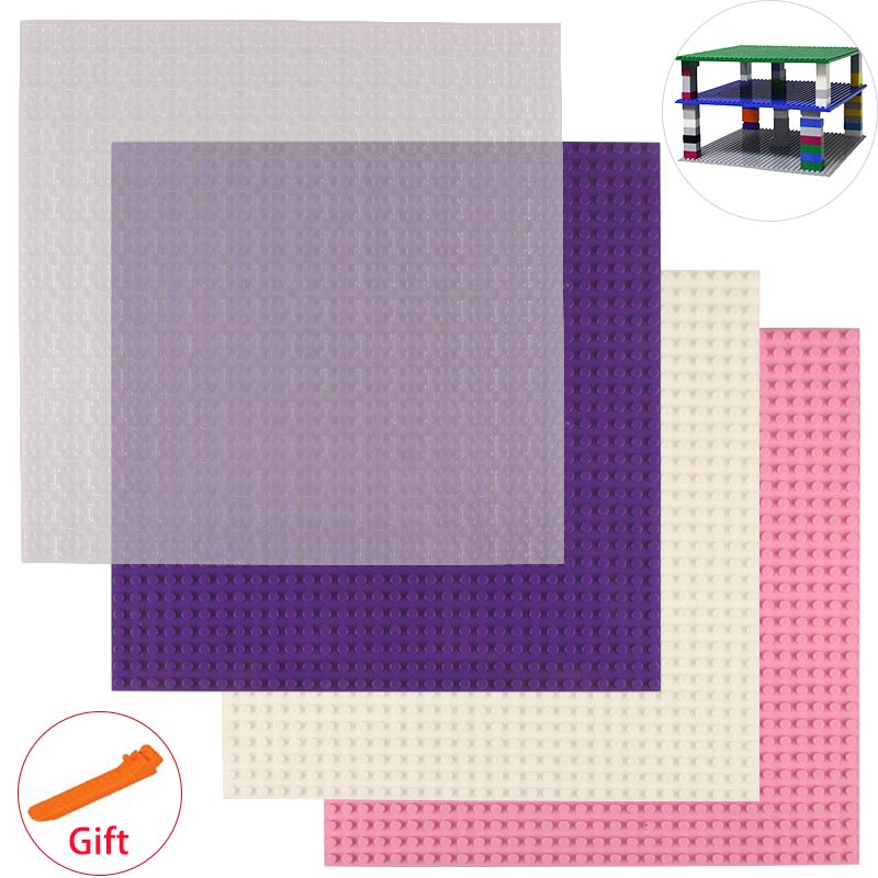 4pcs/lot Small Bricks Baseplate 32*32 Dots 25.5*25.5 cm Building Blocks DIY Base Plate Compatible with major brand blocks <br><br>Aliexpress