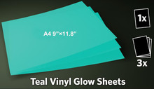 A4 Sheets Glow In the Dark Adhesive Signs Cars Decals Tshirts Walls Making Film Tape For Silhouette Plotters Reflective Vinyl(China)