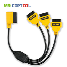 Newly Universal OBD2 Cable 1 to 3 Converter Adapter OBD2 splitter Y Cable J1962M to 3-J1962F splitter OBD2 Extension Cable(50cm)(Hong Kong)