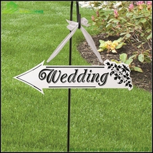 5pcs/pack Wedding Decoration Directional Sign Wooden Wedding Party Sign Countdown Chalkboard Sign 4 Farbe Black And White