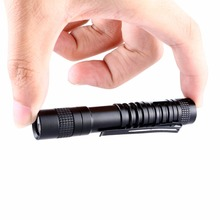1Pc Portable Mini Penlight CREE XPE-R3 Q5 LED 1000 Lumens Pocket Flashlight Torch Light Lamp Clip Camping Use AAA
