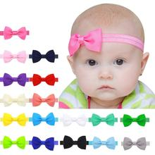 Children Bowknot Cloth elastic headband Baby Kids Girls Mini Bowknot Hairband Elastic Headband flower fashion 6.5*3.5cm 0-3Y