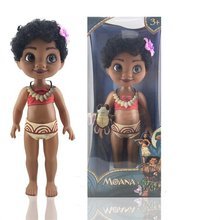 youe shone 2017 new baby dolls Musical Moana toys Kids best holiday gifts Princess Moana Doll Cute PVC Action Figure Toy Anime