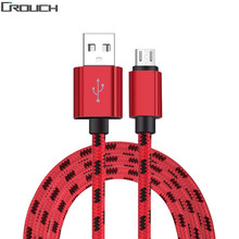 Buy Crouch Braided Wire Micro USB Cable Fast Charging Data Mobile Phone USB Charger Cable Samsung LG Sony HTC Xiaomi Android for $1.69 in AliExpress store