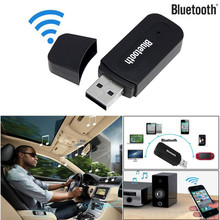 Portable Design Mini Sze 3.5mm Car Wireless USB Bluetooth Aux Audio Stereo Music Speaker Receiver Adapter Dongle+Mic For PC @012(China)
