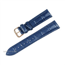 Blue Green Pink Alligator Crocodile Grain Genuine Leather Watch Band Strap Rosegold Pin Buckle 18mm 20mm 22mm