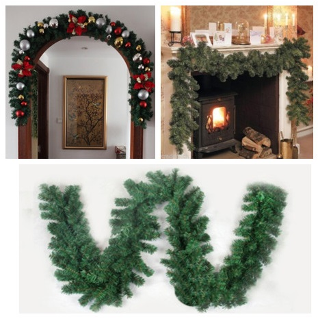 Christmas Garland Pine Tree Rattan 2.7M X 25CM Thick Mantel Fireplace Decor Luxury Merry Christmas Hot Sale