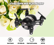 Mini RC Quadcopter WiFi FPV 3D Display Copters 6 Axis Gyro Voice Controlled Drones Follow Me RTF Drone Dron Controlled By Phone(China)