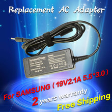 19V 2.1A 40W 5.5*3.0MM Replacement For Samsung Q1 Q30 R19 R20 AD-6019 Laptop AC Charger Power Adapter free shipping