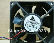 Taiwan up to DELTA 8025 12V 0.51A 8cm high winds dual ball bearing  AFB0812SH+cooling fan