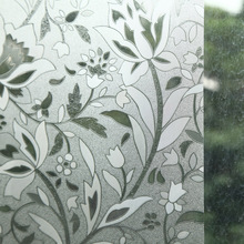 New Arrivals Waterproof PVC Privacy Frosted Home 40X100CM   Window Sticker Glass Film 7 Styles Free Shopping