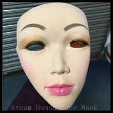 Top Grade 100% Latex Lady Skin Mask crossdress female mask realistic silicone party mask Women Face Mask For Cosplay free size