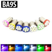 10x BA9S T4W 8SMD leds 1206 dc 12v Car interior Lights Light Source parking White Blue Green Red Yellow Pink Bulb Lamp