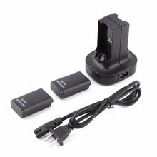For Xbox360 Joystick Dual Charger Base Charging Station Dock 2 Rechargeable Battery 4800mAh For xbox 360 Controller Gamepad