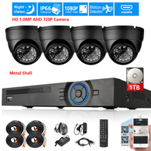 4channel AHD HDMI 1080P DVR NVR CCTV System 4pcs IP66 in/outdoor 1Mp 2000TVL 720P Security surveillance Camera set 4CH DVR kit
