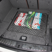 SUV Rear Truck Cargo Organizer Storage Net Auto Luggage Mesh Tidying Bag(China)