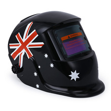 Solar Energy Electrical Welding Helmet Automatic Variable British Flag Mask Auto Darken Protective Welding Mask/Helmet/Welder