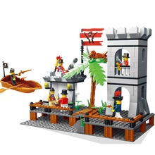 Pirate Series 349PCS Building Blocks Pirates Paradise Model Assembly DIY Gift For Children Bricks Compatible With lepin Wange