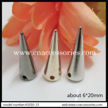 6*20mm plastic cone tree spikes,50pcs/lot,silver/gold/gunmetal,with 2 holes,punk tree spike accessories,#781652(China)