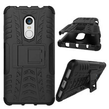 "Shockproof Armor Case For Xiaomi Redmi Note 4 Case Silicon Stand Cover 5.5"" Protective Phone Case For Redmi Note 4X"