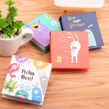 1 Pc Cartoon Demon Daily Memos Cute Hard Copybook Mini Notepad Fitted Notebook 140 Sheets 76x68mm Deli 7703(China)