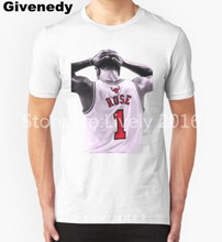 2016 Summer Style Derrick Rose #1 T shirts Men Fashion Casual short sleeve t-shirt