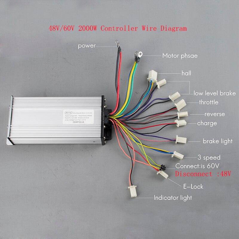 quality 48v DC 1000w brushless motor e-bike speed Intelligent motor controller