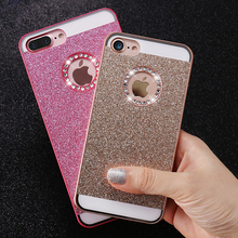 KISSCASE Bling Case For iPhone 5 5S SE 4 4S Cases Shiny Powder Phone Bag Case For iPhone 6 6s 7 Plus Women Girly Phone Cover