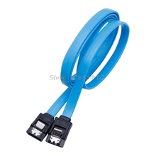 3ft Blue SATAIII SATA 3.0 6Gbps Hard Disk Drive HDD Cable Female to Female Cord Drop Shipping(China)