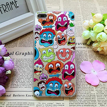 3D Moving Eyes Mobile Shell for iPhone 5 5s 1 Pc/lot Transparent Acrylic Funny Simpson Fries Dinosaur Popcorn Cell Phone Case(China)