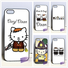 Daryl Dixon hello kitty fashion cell phone case cover for iphone iphone 4 4s 5 5s 5c SE 6 6s plus 7 plus #X228
