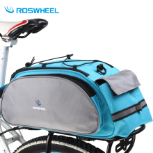 Roswheel Bicycle Bag Multifunction 13L Bike Tail Rear Bag Saddle Cycling Bicicleta Basket Rack Trunk Bag Shoulder Bike  Handbag