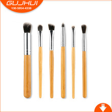6 Bamboo Handle Brush Sets, Bamboo Poles, Bamboo and Beauty Tools Are Now Available(China)