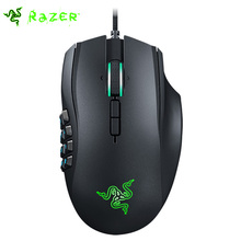 Razer Naga Chroma Gaming Mouse 16000dpi 5G Laser Sensor Razer Mouse 19 MMO Optimized Programmable Buttons Computer Mice