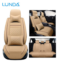 New Luxury PU Leather Leather Automotive Car Universal Seat Covers Fit Most Car Suv or Van 5 seats Car Seat covers Full Set Airb