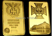 REICHSBANK DIREKTORIUM GERMAN IRON CROSS GOLD BULLION BAR,20pcs/lot Free shipping
